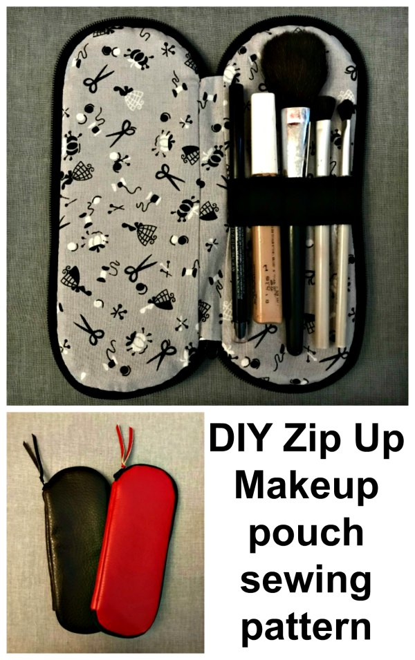 Here's another free pattern with tutorial. This is a cute little DIY Zip Up Makeup pouch so that you can keep all of your cosmetics in one place.