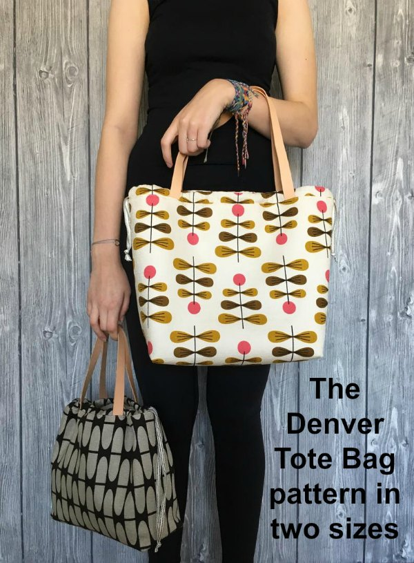 Denver Tote Bag sewing pattern