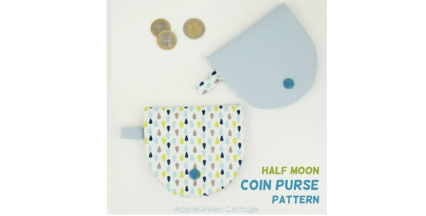 Half Moon Coin Purse sewing pattern.
