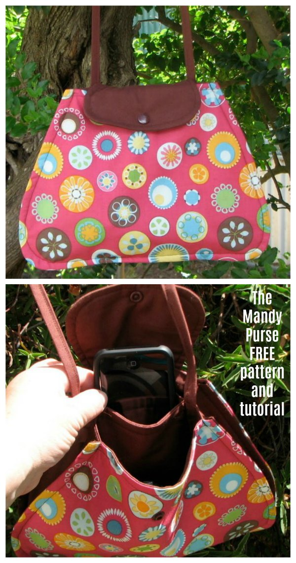 If you would like to make yourself a lovely purse where the pattern and tutorial are free then here is the Mandy Bag.