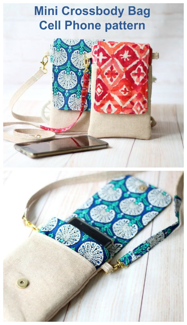 If you want to make yourself a great pouch to hold and protect your cell phone then we have a great pattern for you here. It's the Mini Crossbody Bag  Cell Phone pattern.
