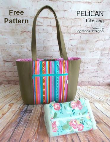 This designer's patterns are very popular with our readers and as a double bonus this pattern is both free and it comes in two versions. The Pelican Tote Bag is a simple shopping tote bag with a magnetic closure, that fits your every day on the go needs. If you like structured bags then you can make the Pelican Tote Bag with foam or else you can make a fold-able version to carry it in your bag.
