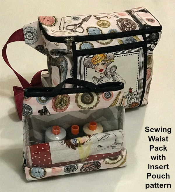 If you purchase this pattern you will technically be getting two patterns for the price off one. You can make a waist pack and a separate pouch, and use them together or separately.