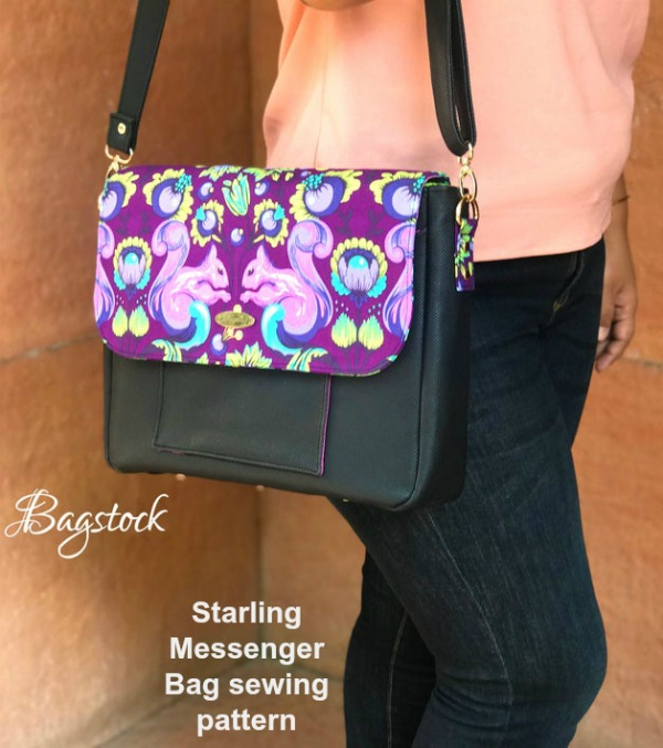 The Starling Messenger Bag is another fantastic creation from this most talented designer. She always makes such interesting and practical bags and this one is one of our favorite. It has lovely features and is crammed with really useful pockets.