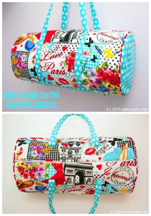 Bon Voyage Duffel Bag free sewing pattern