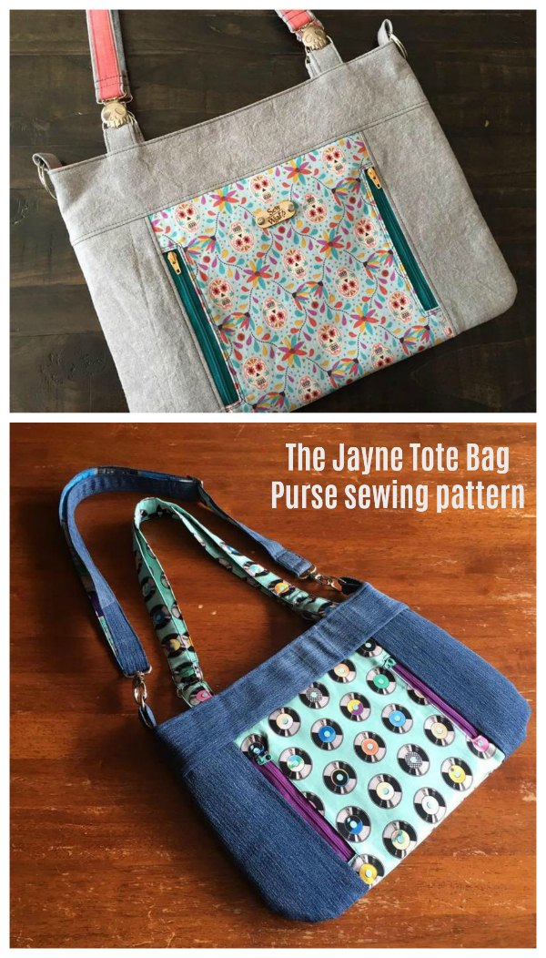 The Jayne Bag is a lovely large everyday tote bag purse that has lots of pockets, including zipper pockets, to keep everything safe.