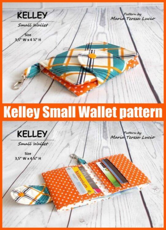 Kelley Small Wallet sewing pattern