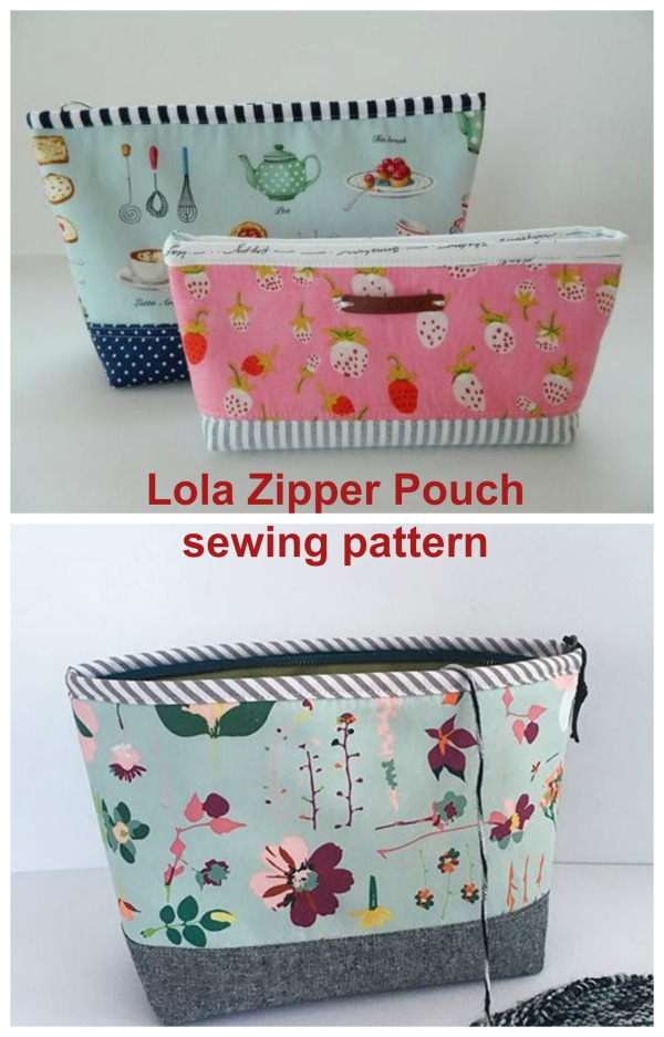 Sewing pattern for the Lola Zipper Pouch