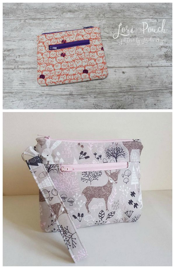 If you would like to make yourself a zipper pouch with endless uses then here is the Lori Zipper Pouch sewing pattern. This pattern is a great project that will allow you to use up your scraps and feature your favorite fabric pieces.