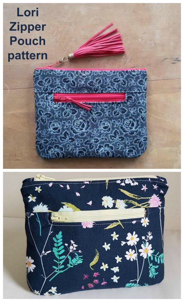 Lori Zipper Pouch sewing pattern