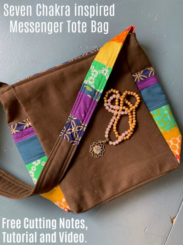 Seven Chakra Inspired Messenger Tote Bag pattern and free video