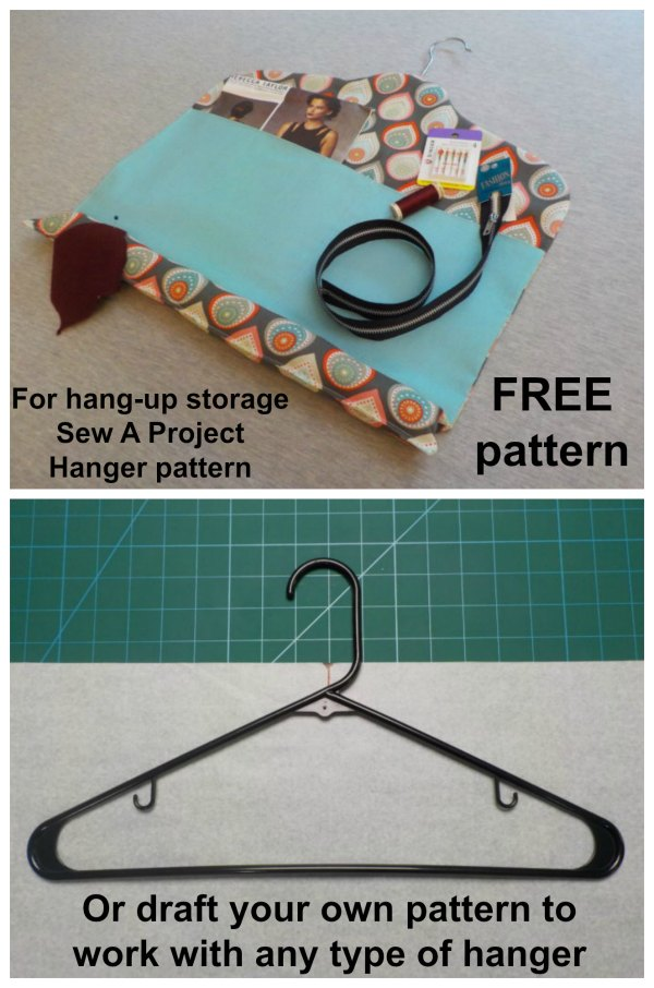 Sew a project hanger for hang-up storage free sewing pattern