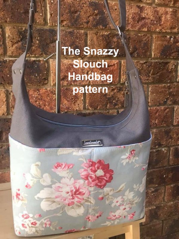 If you want to make yourself a fabulous bag that you can grab and throw over your shoulder then here is the downloadable pattern for The Snazzy Slouch. Aimed at the intermediate sewer this bag looks great and is super organized and roomy too.