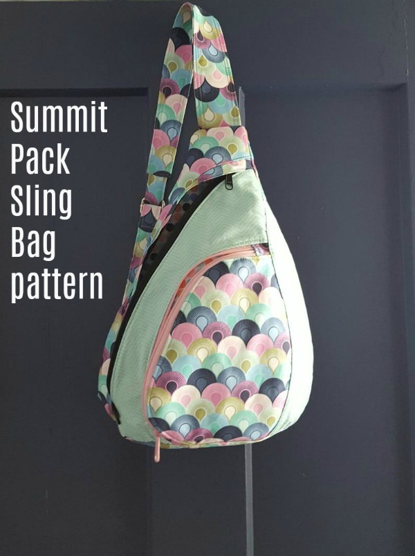 We all need one of those great little backpacks/sling bags for day trips, biking, walking, vacations, and more, or we know someone who does. For someone on the go, we have the perfect bag pattern which the designer names the Summit Pack Sling Bag Pattern.