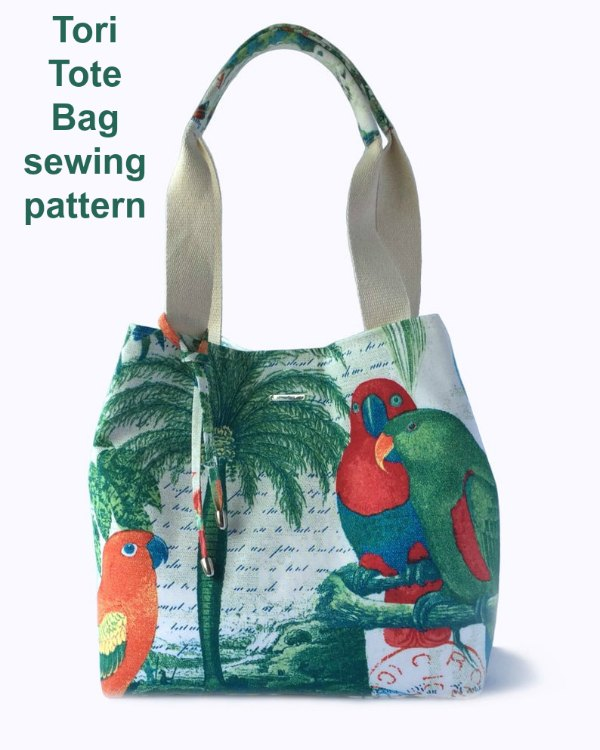 If you want to make yourself a great tote bag for a perfect day at the beach, vacation, or a day of shopping, then here is the Tori Tote Bag digital pattern.