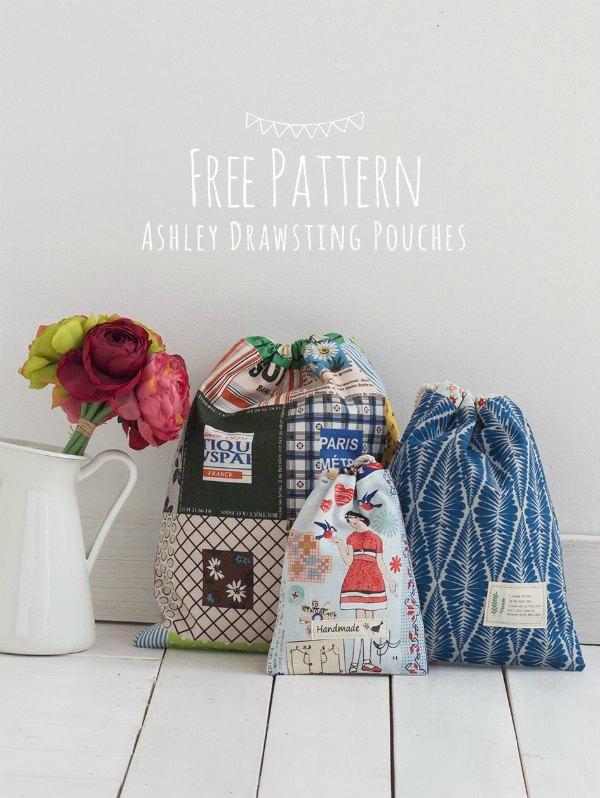 Pretty drawstring bags to sew.