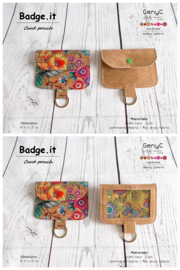 Digital download pattern. The Badge.It ID Card Pouches are ideal for carrying and wearing an ID card, entry card, conference badge or swipe card. You can hang them off your purse, on your keyring or around your neck on a lanyard.