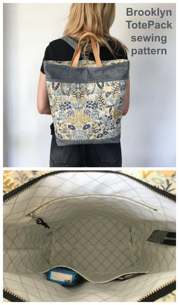 Brooklyn Totepack sewing pattern