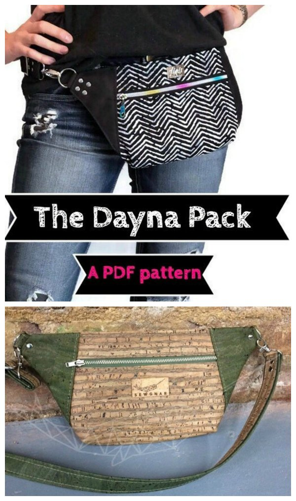 Dayna Pack Waist Bag sewing pattern and video.