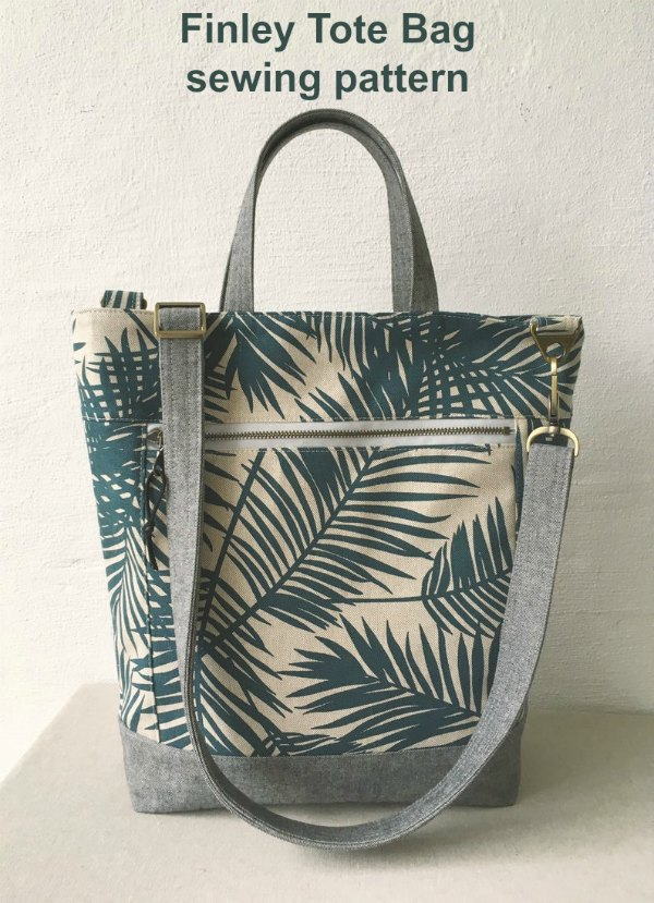 This most creative designer has made another best selling Tote Bag. This is the Finley Tote Bag digital pattern and the designer says an intermediate sewer will be able to create your very own super handy Finley Tote Bag.
