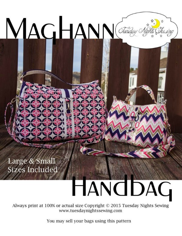 Meghann Handbag sewing pattern, example of the DIY purse you can sew with this sewing pattern download
