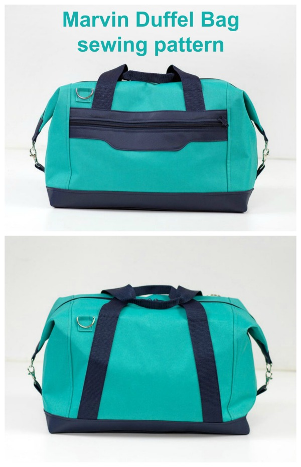 Here we have a fabulous digital pattern for a very universal form unisex duffel bag named the Marvin Duffel Bag. With this excellent pattern and tutorial you will learn how to sew a travel bag with zipper closure.