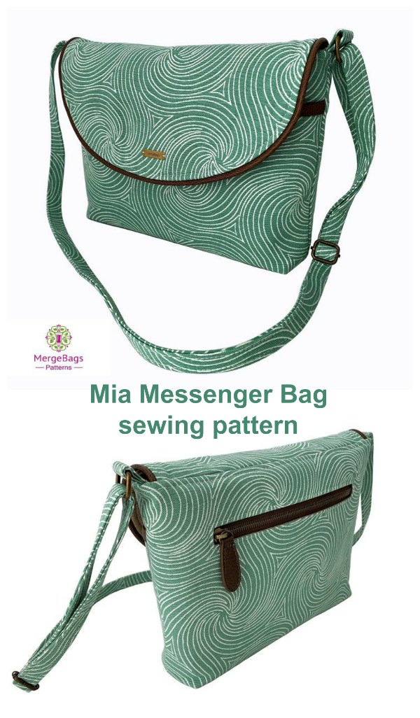 This is the Mia Messenger Bag which is a very pretty small messenger bag. It has lots of pockets, a magnetic snap closure on the front flap and is fully lined with a solid construction.