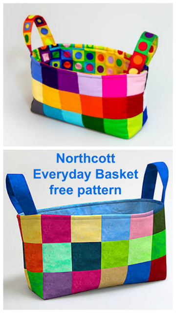 Northcott Everyday Basket FREE sewing pattern