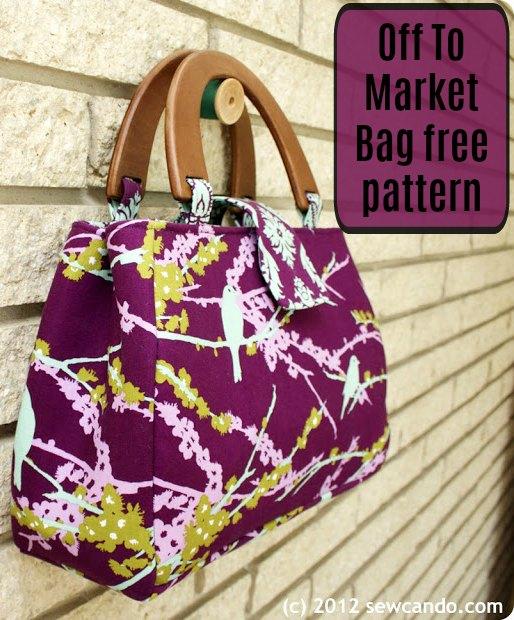 Off To Market Bag free sewing pattern