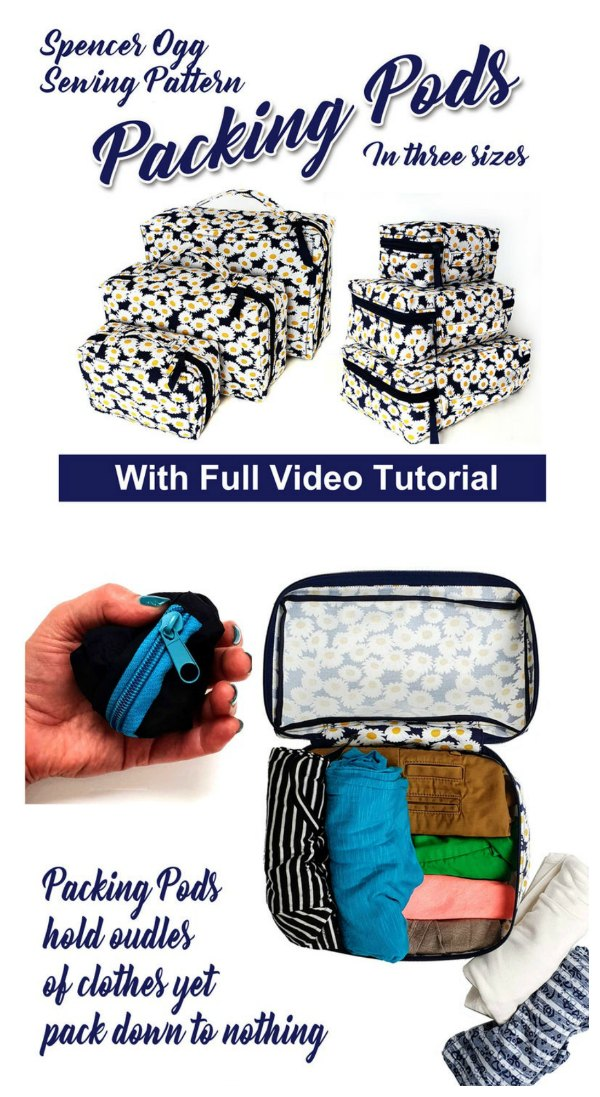Packing Pods in three sizes with video sewing tutorial