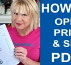 Printing PDF's, and how to size and resize them - FREE video tutorial
