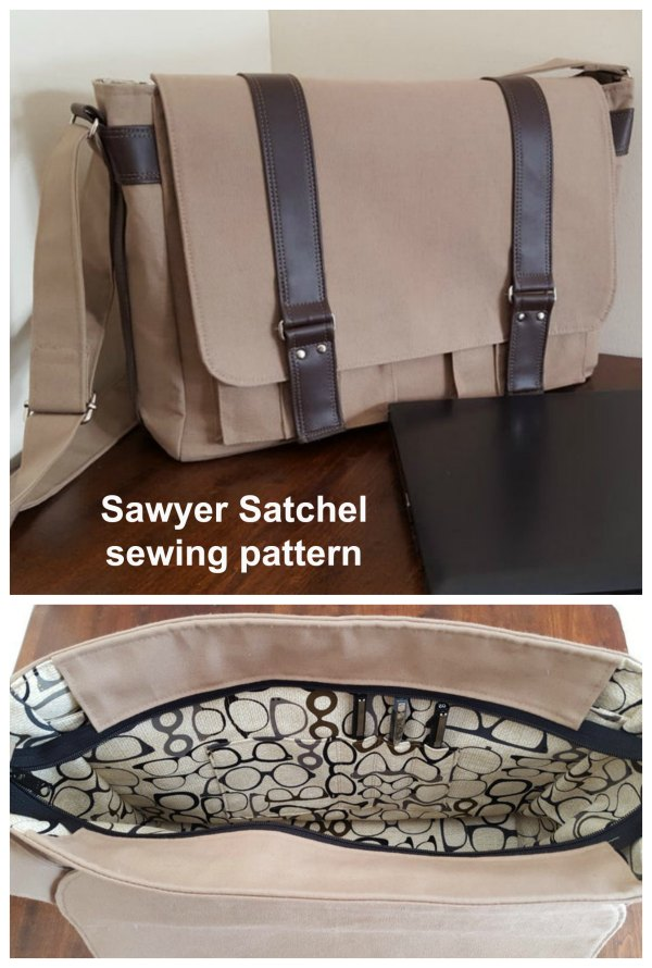 If you want to make a perfect travel/business/school bag, then the Sawyer Satchel is a fabulous choice.