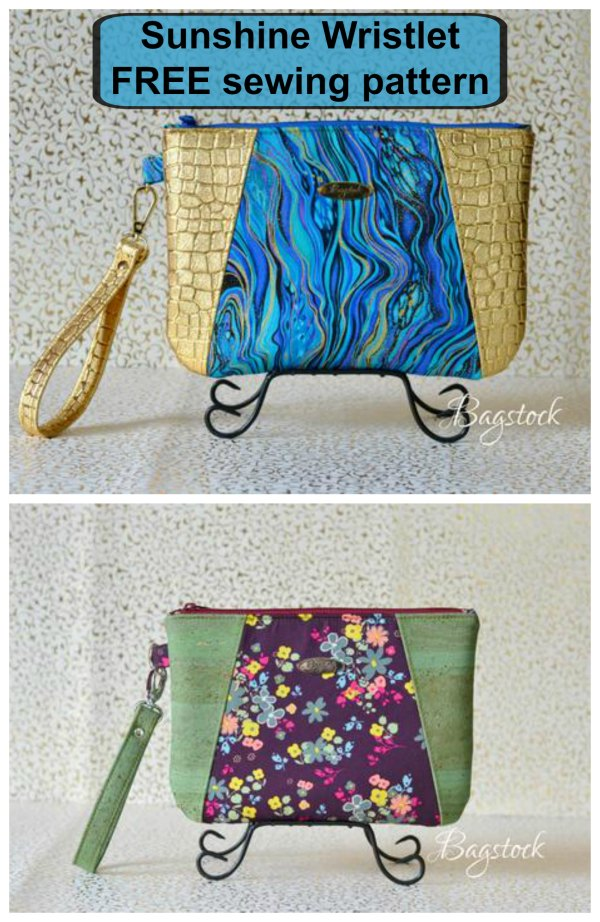 The Sunshine Wristlet is a perfect evening bag that is designed for your every day on the go needs. The designer has made two versions, one with a front wristlet strap and the other with a side wristlet strap. Each of the versions has an interior zipper pocket and an interior slip pocket.