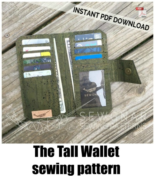 Tall Wallet Sewing Pattern