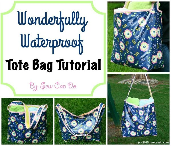 Wonderfully Waterproof Inside Out Tote Bag free pattern