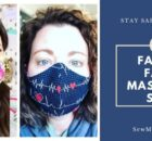 Fabric face mask sewing patterns