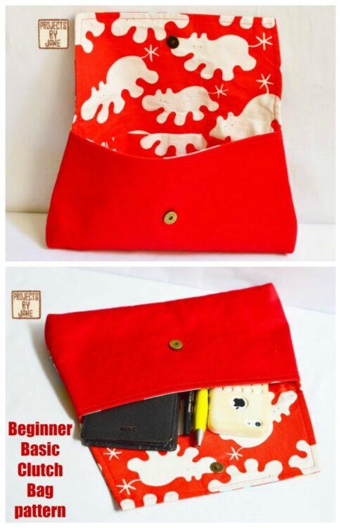 Beginner Basic Clutch Bag pattern
