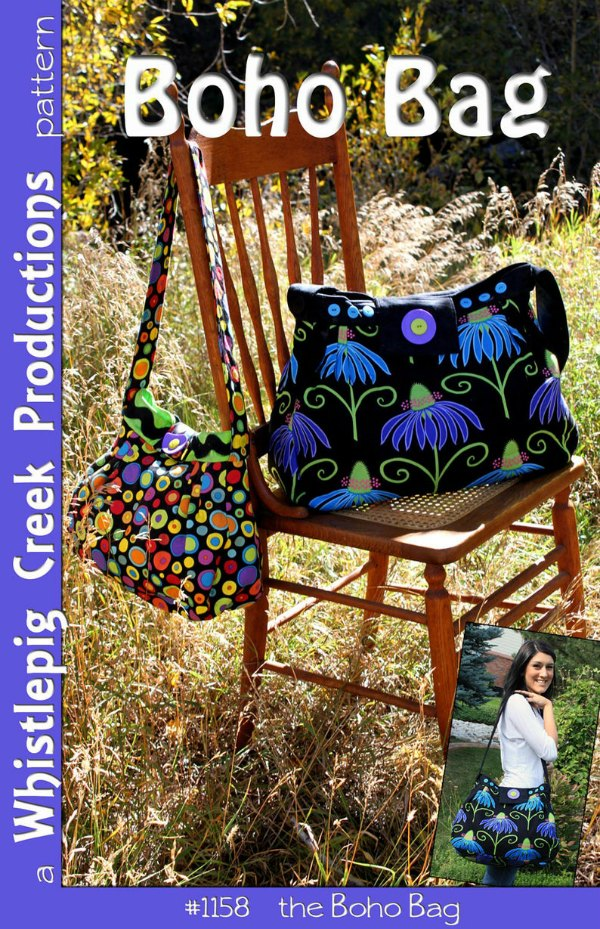 This is the digital pattern for the Boho Bag which the designer has made in two sizes.