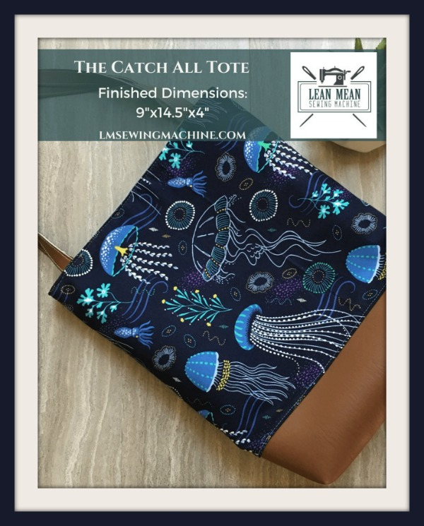 Catch All Tote Bag FREE sewing pattern