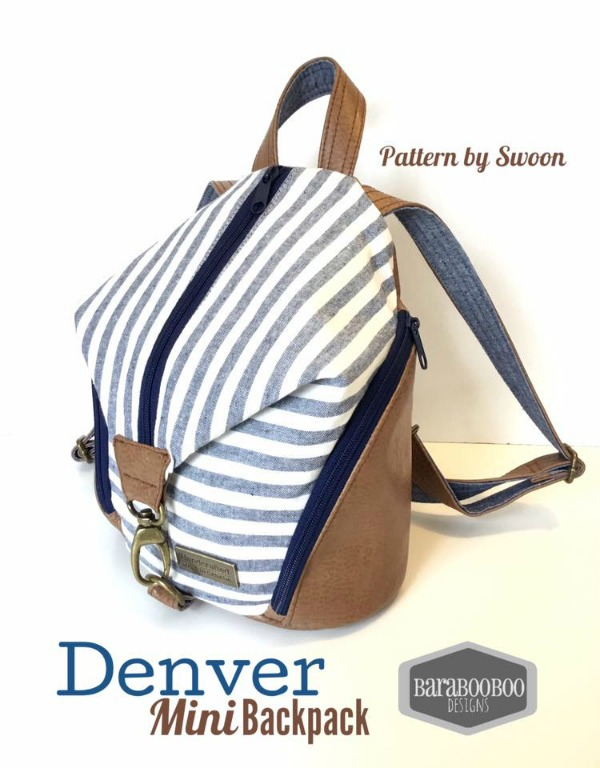 If you want the perfect for work, travel or your everyday adventures stylish backpack then here is the Denver Backpack digital pattern.