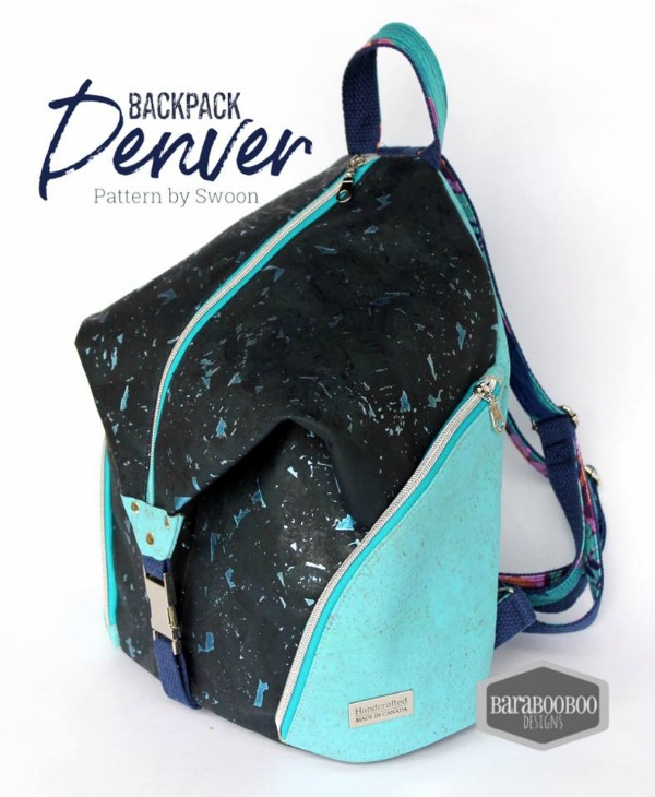If you want the perfect for work, travel or your everyday adventures stylish backpack then here is the Denver Backpack digital pattern. It comes in two sizes, large and mini and features two exterior side pockets with visible zippers for an added edgy vibe.