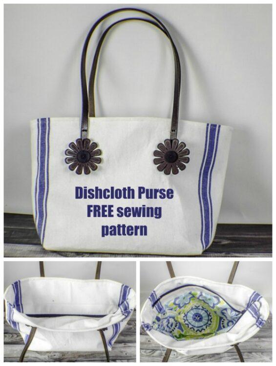 How to make a Dishcloth Purse / Handbag - FREE pattern