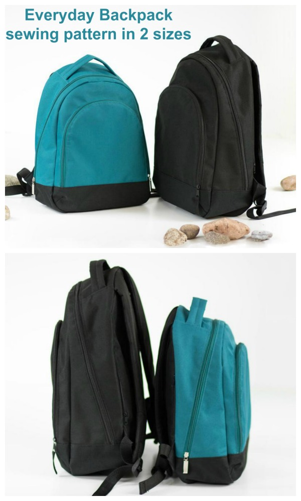 With this excellent digital pattern and tutorial, you will learn how to sew Everyday Backpacks for the whole family.