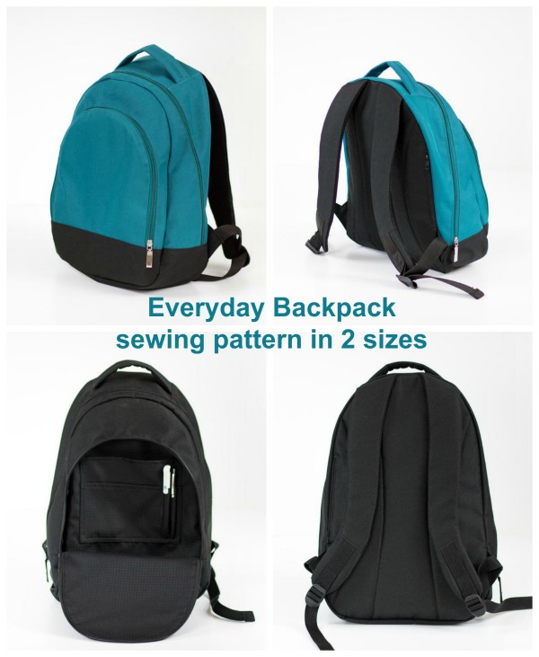 With this excellent digital pattern and tutorial, you will learn how to sew Everyday Backpacks for the whole family. This slightly sporty backpack is very versatile and will be perfect for girls, boys, men and women. As a great bonus, the Everyday Backpack comes in two sizes medium and large. The backpack is neatly finished and fully lined. It's functional but not too big and perfect for everyday situations.