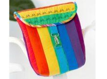 Rainbow bike bag free pattern