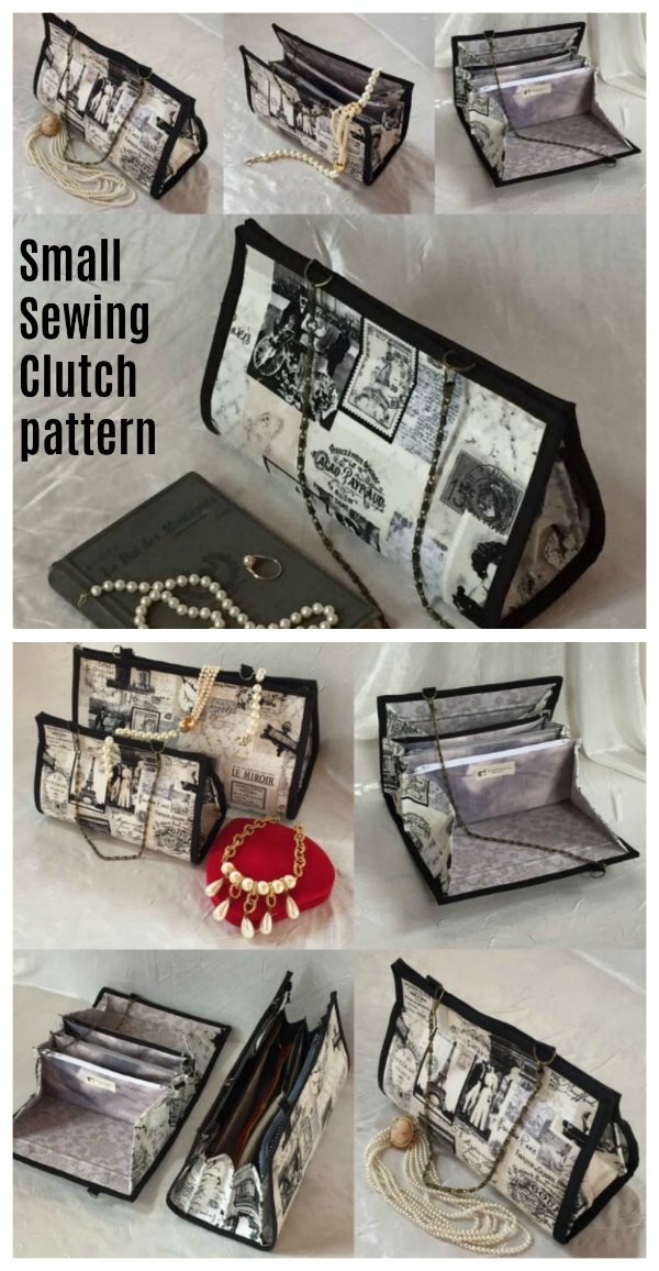The very clever designer of this Small Sewing Clutch has made it look like a smart handbag or shoulder bag, but open it up and the interior gives you all the storage and organisation you need. It becomes your very own complete crafting or sewing center.