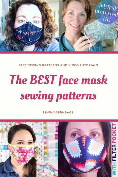 Sewing patterns for face masks. The best FREE sewing patterns for face masks to sew for your family or health care workers. All with free patterns and step by step video tutorials.