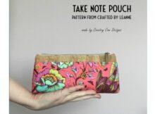 Take Note Zipper Pouch FREE pattern