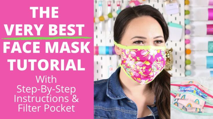 DIY Best Fabric Face Mask Step-by-Step Tutorial for Beginners | Sweet Red Poppy