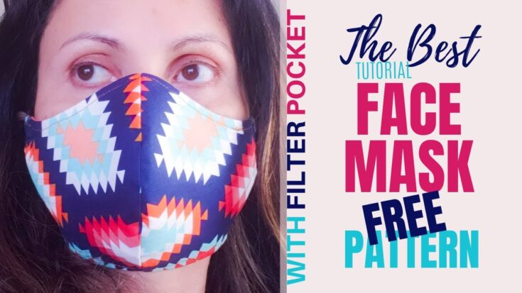 How to Sew the Best Fitted Fabric Face Mask with Pocket to insert a N95 or Hepa 1900 Filter. [EASY]